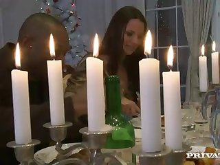 christmas dinner ends up in a wild orgy