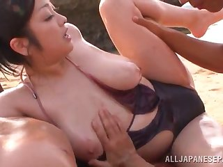 pleasant milf in bikini getting worked atop hardcore missionary