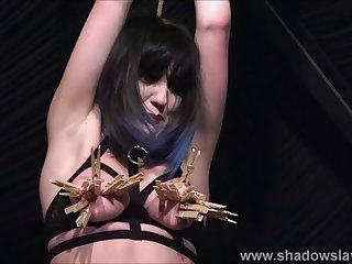 tied amateur slave louise whipped mercilessly and tit tormen