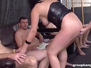 elina rides the carousel of cum