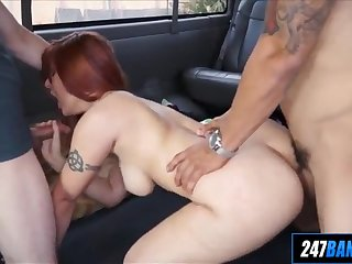 amateur redhead gets anal in 3way alessa snow