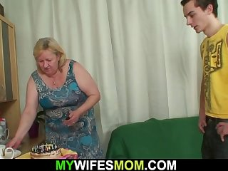 wife finds huge mother inlaw rides his cock