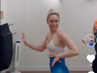shiny legings fit happy blondie dance gym