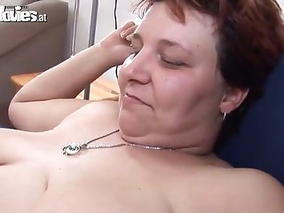 mature bbw plays hither a hard cock before strapon bonking