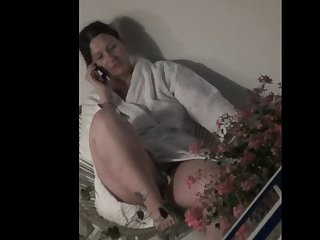 spy bbw milf check out watch wank flash at the balcony(part2)